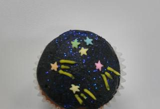 Glitter cupcake for birthday day!