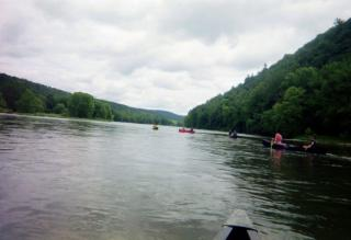 On the Allegheny River for the Kinzua canoeing trip